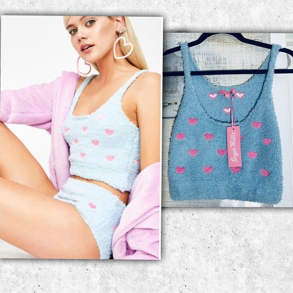 e40e792f sugar thrillz Intimates & Sleepwear | Heart Of Hearts Fuzzy Bra ...